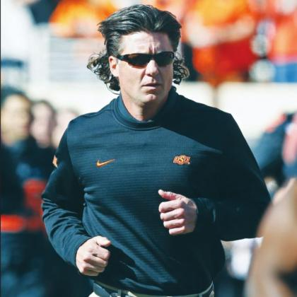 Oklahoma State University Cowboys' football head coach Mike Gundy back in November 2019. Sue Ogrocki AP Photo